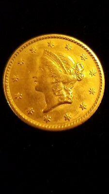 1852 $1 Type 1 US Liberty Head Gold Coin! AU Condition