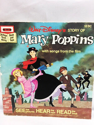 VINTAGE Walt Disney MARY POPPINS SEE HEAR AND READ Story Book  #12DC