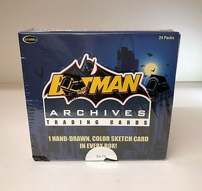 Batman Archives 1 Sketch/ Box - Sealed Trading Card Hobby Box - Rittenhouse 2008