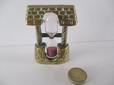 Vintage Novelty Brass Well Egg Timer - To Wish You Well
