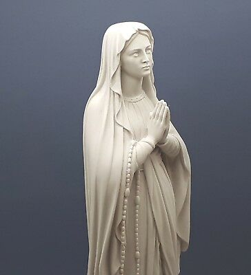 Our Lady Blessed Virgin Mary Greek Cast Marble Statue Sculpture 15.75''