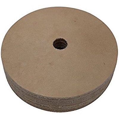 3 in. Leather Honing Polishing Wheel for Mini Bench Grinders w/ 10 mm Arbor New!