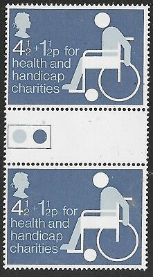 Gb 1975 Health & Handicap Traffic Light Gutter Pair Sg970 Nhm
