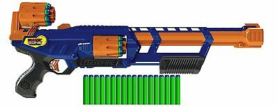 Commando Gun Zombie Blaster Strike Rapid Fire Foam Soft Darts Nerf Kids Toy
