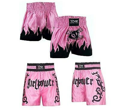 Evo Ladies Muay Thai Fight Shorts MMA Kick Boxing Grappling Martial Arts Gear