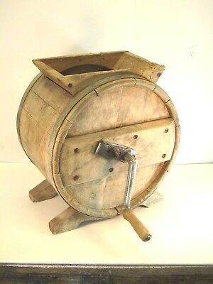 Vintage and antique wooden butter churn