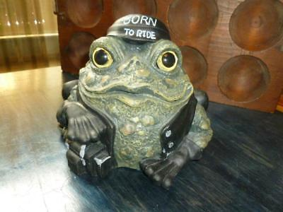 Toad Hollow Biker Dude Frog Motorcycle Figurine Born To Ride 2008 Homestyles