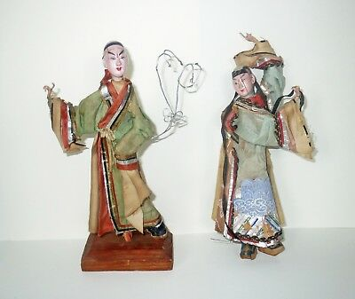 Collection Antique 1800s JAPANESE DOLLS GOFUN LACQUER