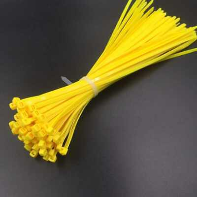 Yellow Cable Tie 100-1000 Pieces Various Sizes