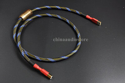 A to B 2m 6.5ft DAC Star Quad Silver-Plated OFC HiFi Audio Cable --- USB U01