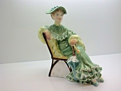 Vintage Doulton & Co Limited 1967 Ascot H.N. 2356 Lady Green Dress Sitting Lady
