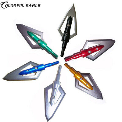 100 Grain Broadheads 2 Blades Arrowheads for Hunting Arrows and Crossbow Bolts