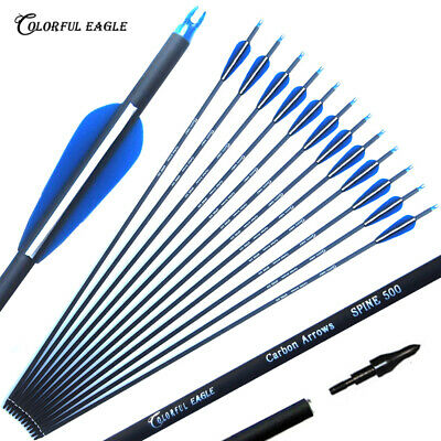 """30"""" archery hunting Mix carbon arrow for Compound & recurve bow with point"""