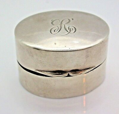1923 Vintage Sterling Silver Rounded Silver Box 20g Canadian Made (G. Seifert)
