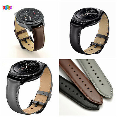 Genuine Leather Watch Band Strap  for Samsung Gear Sport / Gear S2 Classic  20mm