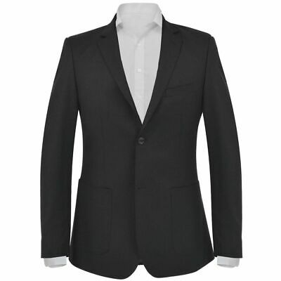 vidaXL Men's Business Blazer Size 56 Black Slim-Fit Formal Dinner Coat Jacket