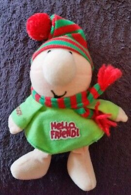 Vintage ZIGGY Mini PLUSH Forget Me Not American Greetings HELLO FRIEND! Korea 6""