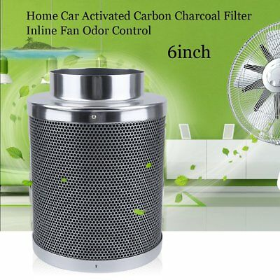 "NEW 6"" Air Carbon Filter for Inline Fan Scrubber Virgin Charcoal Odor Control QC"
