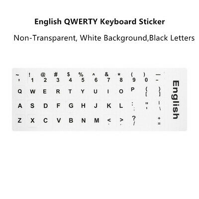 English QWERTY Replacement Keyboard Sticker with Big Letters for Laptop Notebook