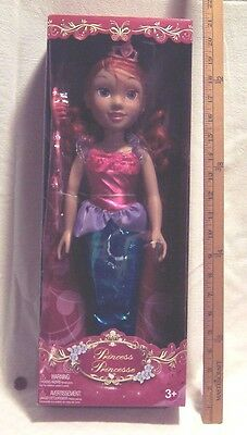 Red Hair Mermaid PRINCESS DOLL In 3 Combo Gown For Ages 3 & Up In Brand New Box