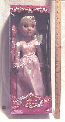 Blonde Hair PRINCESS DOLL In Pink Gown For Ages 3 & Up In Brand New Box +BONUS!