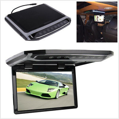 "10.2"" Foldable Car Monitor Roof Mount Flip Screen Overhead Multimedia Video HDMI"