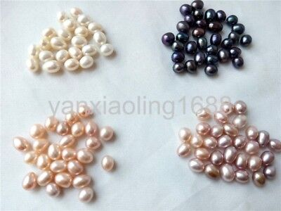 Teardrop Half drilled genuine natural freshwater pearl loose beads USA BY EUB