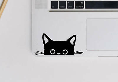 CUTE KITTEN CAT PEEKING Laptop Vinyl Decal Sticker Macbook 11 13 15 17""