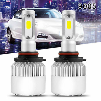 US 1Pair COB 9005 HB3 72W 8000LM LED Car Headlight Lamp Hi/Lo Beam Power 6000K