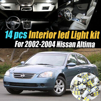 12pcs White Interior Led Light Bulbs Package Kit For Nissan Altima