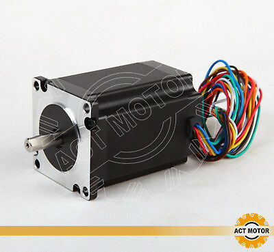 ACT MOTOR GmbH 1PC Nema23 Stepper Motor 23HS8840D8P1-C 4A 2.2Nm φ 8mm D-Shaft