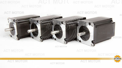 ACT MOTOR GmbH 4PCS Nema23 Stepper Motor 23HS8840D8P1-C 4A 2.2Nm φ 8mm D-Shaft