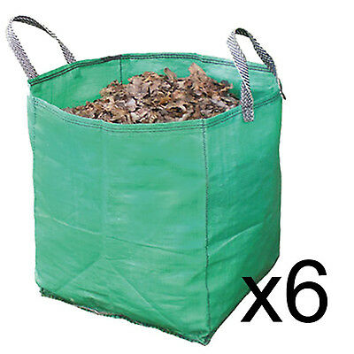 Gardening Leaf Leaves Log Branch Tree Removal Heavy Duty Sacks Woven Bag 120L x6