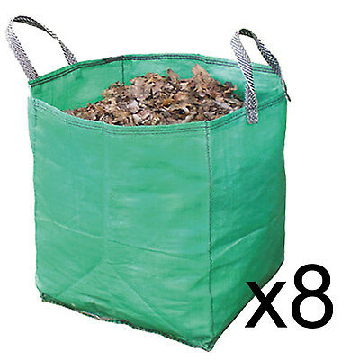 Gardening Leaf Leaves Log Branch Tree Removal Heavy Duty Sacks Woven Bag 120L x8