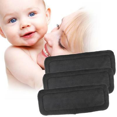 5Pcs/Pack 4 Layers Bamboo Fiber Charcoal Washable Cloth Diaper Nappies Inserts