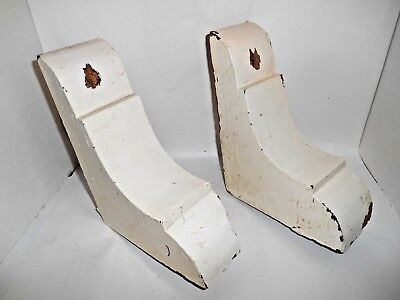 Pair Vintage Solid Wood Corbels