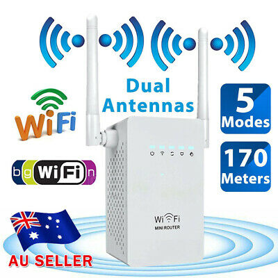 300Mbps WiFi Repeater Wireless Network Router Range Extender Signal Booster AU