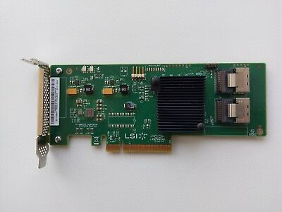 LSI Logic SAS 9201-8i PCI-e Controller / 9211-8i (IT-mode) / Low profile bracket