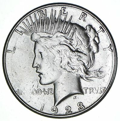 1923-S Silver Peace Dollar ($1) - San Francisco Minted - 90% Silver