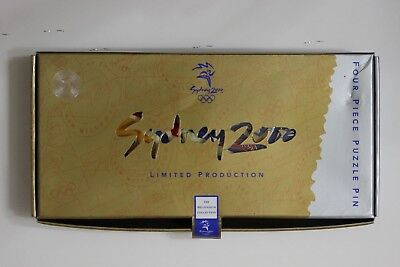 Sydney 2000 Olympics Four Piece Puzzle Pin Badge set 4 pins 787/2000 (3263134M8)