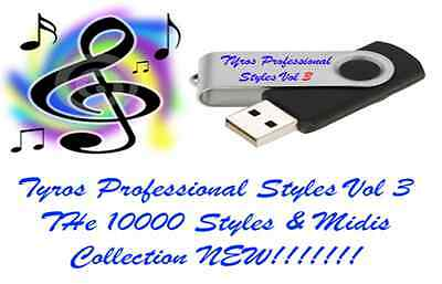 10,000 Yamaha Tyros Styles and Midi's USB Stick BRAND NEW RELEASE. LOOK!!!!