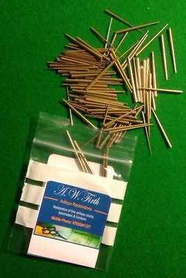 Tapered Clock Pins (Assorted pack of 100 BRASS) Clock Repair. Bestseller!