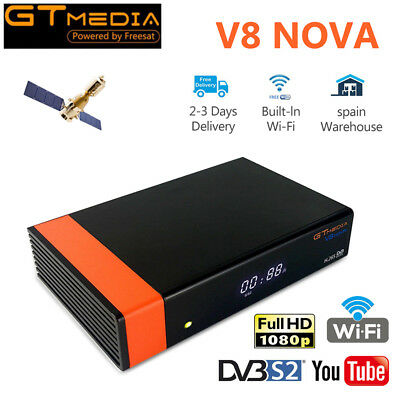 Gtmedia Built Wifi V8 Nova (New V8 Super) DVB-S2 Satellite TV Receiver Decoder
