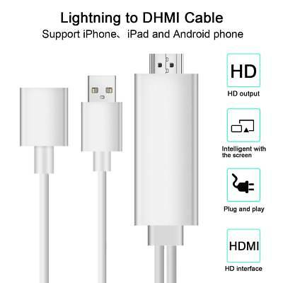Lightning to HDTV HDMI Digital AV Adapter Cable For IOS Android iPhone Samsung