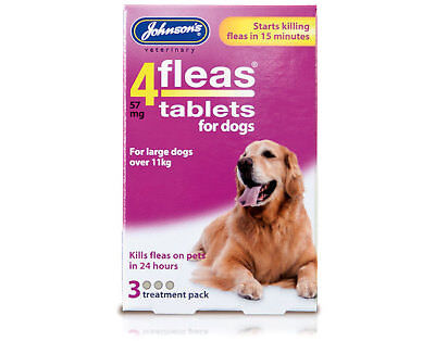 Johnsons 4Fleas Flea Tablets For Large Dogs over 11 Kg 3 Treatment Pack