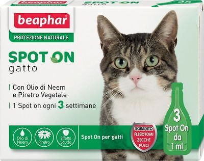 Beaphar Gatto Protezione Naturale Spot On Gatt 3 pipette da 1 ml