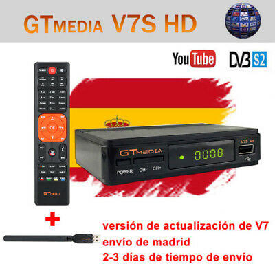 FTA GTMEDIA DVB-S2 V7S+Wifi Satellite Receiver Bisskey Digital Full HD 1080p