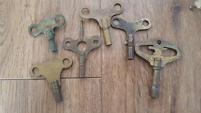Vintage collection of clock keys