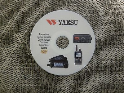 Yaesu uhf transceivers radio user service manuals and schematics on 1 DVD
