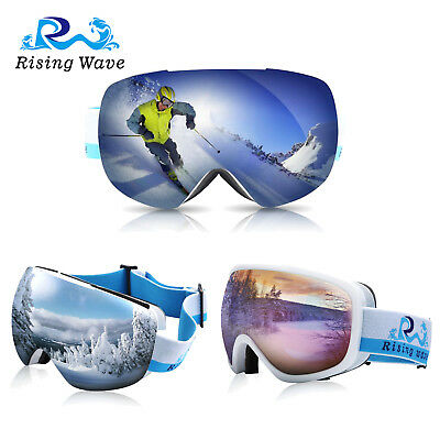 Ski Snow Goggles Snowboarding Anti-Fog Lens 100% UV400 Protection Adults & Youth